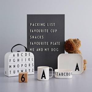 Design Letters koffert barneservise A-Z