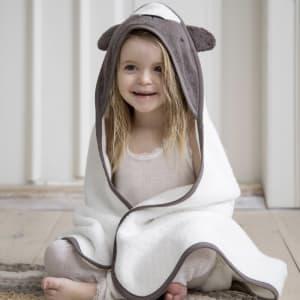 Sebra Hettehåndkle bjørnen Milo Woodland