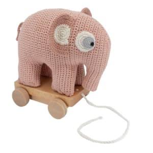 Sebra Elefant på hjul Fanto grapefruit pink