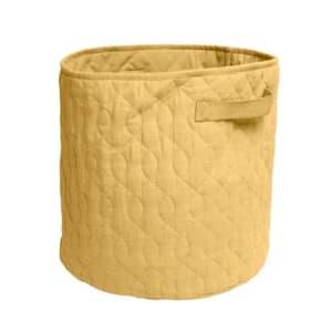 Sebra Quiltet kurv Honey Mustard