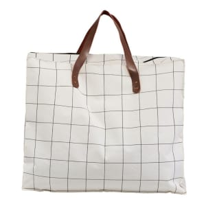 House Doctor Bag Squares Hvit