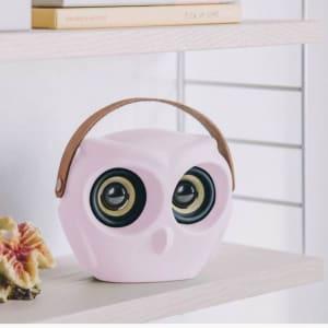 KREAFUNK aOWL Bluetooth Speaker Rosa