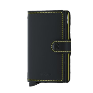 Secrid Lommebok Miniwallet Matte Black & Yellow