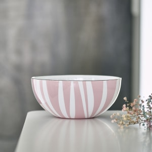 Cathrineholm Emaljeskål Stripes Rosa 24cm