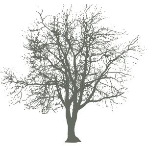 Broste Serviett Branch grå