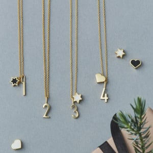 Design Letters Charms Archetype Tall 0-9 Gull
