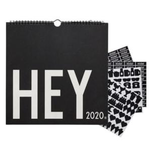 Design Letters Veggkalender 2020 Svart