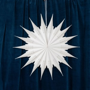 UND Adventstjerne Snøfnugg Hvit 65cm