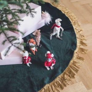 UND Juletreteppe Velur Grønn