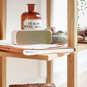 KREAFUNK aGROOVE dusty pink gold speaker