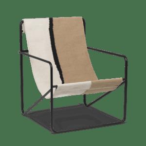 Ferm Living Stor Desert Lounge Svart/Beige