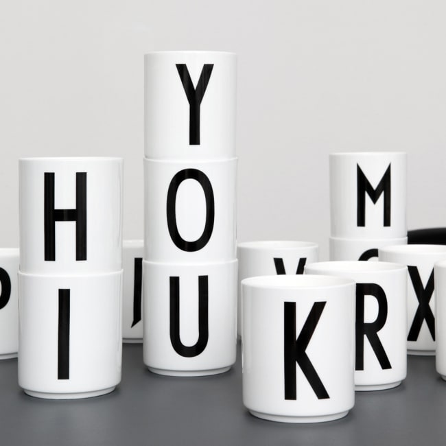 Fersk Design letters krus arne jacobsen A - Ø | Ting OT-19