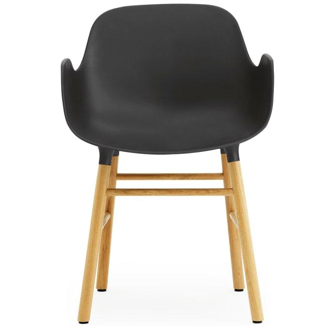 normann copenhagen form stol med armlener sorteik | Ting