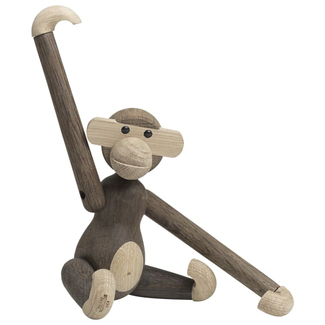 Hyggelig kay bojesen apekatt liten eik/røkt eik | Ting UI-55