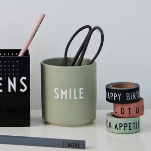 design letters kopp favourite cup smile