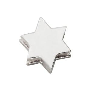 design letters charm stjerne sølv