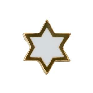 Design letters charm emalje stjerne hvit/gull