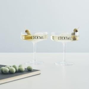 Design Letters Cocktailglass 2pk