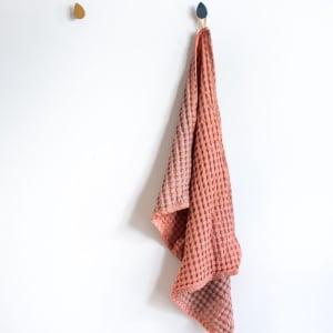 UND Kjøkkenhåndkle Vaffel Bomull Kanel/Rosé