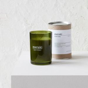 Meraki Duftlys Green Herbal Stort