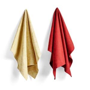 Hay Kjøkkenhåndkle Tea Towel NO 5 Red/Gold Scribble
