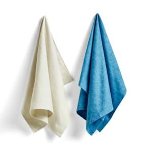 Hay Kjøkkenhåndkle Tea Towel NO 7 Blue/Cream Scribble