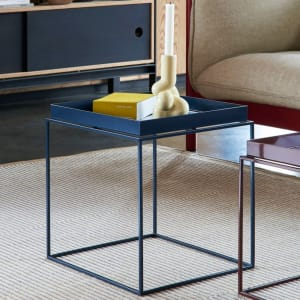 Hay Tray Table Blue 40x40 cm