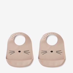 Liewood Tilda Silikonsmekke Katt 2pk Rosa