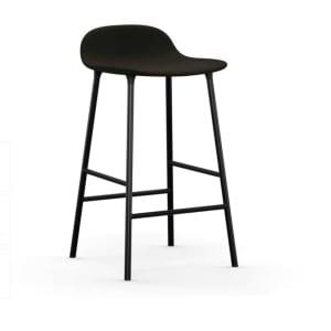 Form Barstol Full Upholstery Svart Stål 65 cm