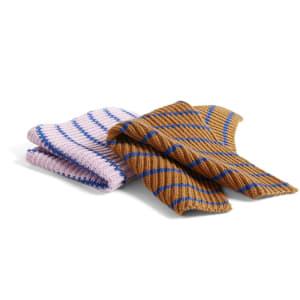 Hay Kjøkkenklut 2pk Stripe/Brown