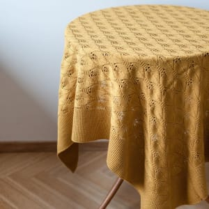 UND Teppe/Duk Selje 100x100 Mustard