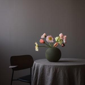 Cooee Ball Vase 20cm Olive