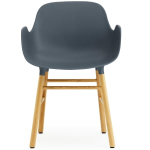 Normann Copenhage Form stol med armlener blå/eik