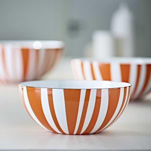 Cathrineholm emaljeskål Stripes oransje alle str