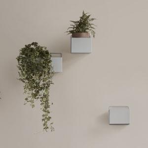 ferm living wall box liten lys grå