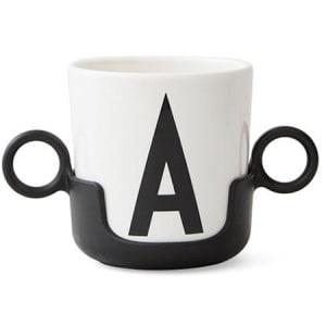 design letters håndtak til melaminkopp sort