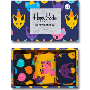 happy socks gaveeske singing birthday 3 par