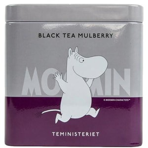 Teministeriet moomin boks, sort te morbær