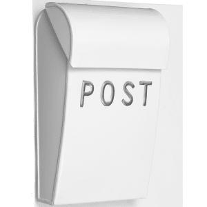 bruka design postkasse mini hvit/sølv