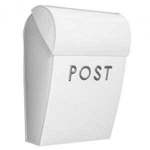 bruka design postkasse m/lås hvit/sølv