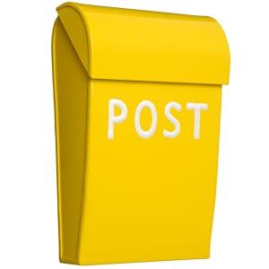 bruka design postkasse mini gul
