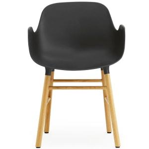normann copenhagen form stol med armlener sort/eik