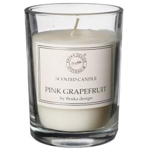 bruka design duftlys clear pink grapefruit