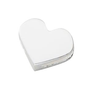 design letters charm hjerte sølv