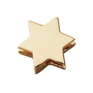 design letters charm stjerne gull