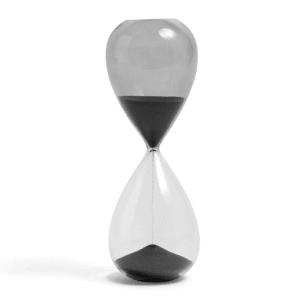 Hay Time Timeglass L Svart