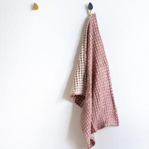UND Kjøkkenhåndkle Vaffel Bomull Brie/Plomme