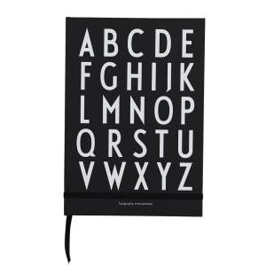 Design Letters Notatbok ABC svart