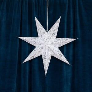 UND Adventstjerne Hvit 45cm