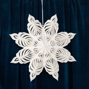 UND Adventstjerne Snøfnugg Hvit 60cm